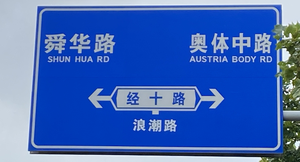 """神翻译?济南奥体中路成了""""奥地利身体大道"""""""
