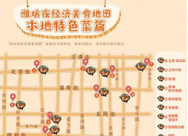 """地道潍坊菜去哪吃?""""潍坊夜经济美食地图""""本地菜板块出炉!"""