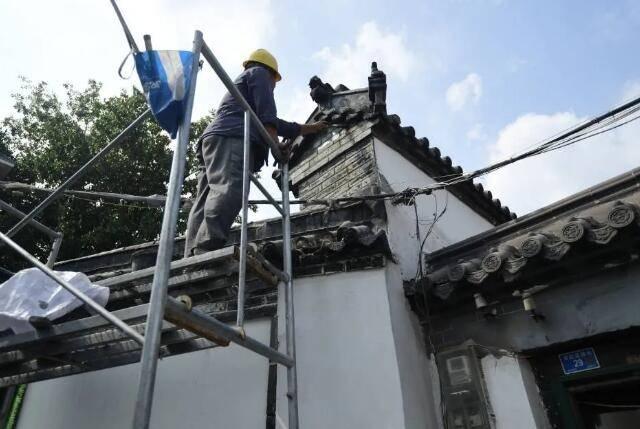 """济南现存最长""""八字""""照壁启动修缮 36名山东籍状元名字都将上墙"""