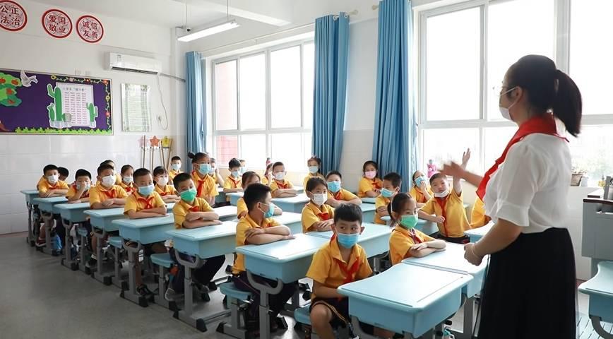 87秒丨新学期新希望!济宁这所小学将防疫知识带到开学第一课