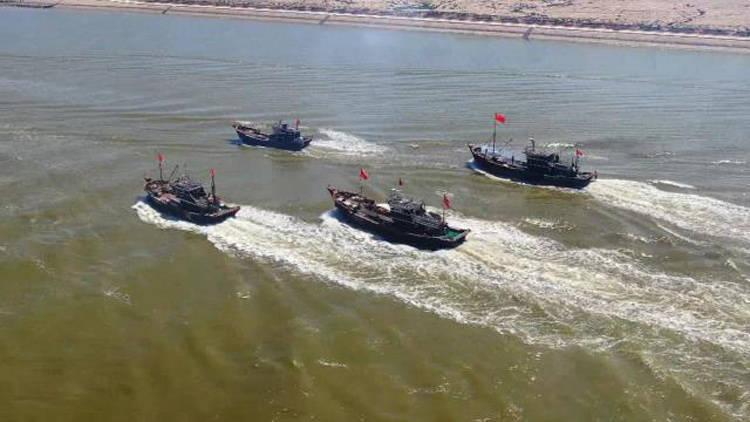 46秒丨伏季休渔今日结束 滨州无棣县渔民开海捕鱼啦