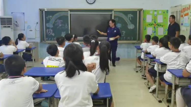 """47秒丨滨州消防开发区大队走进校园 开展消防安全""""开学第一课""""活动"""