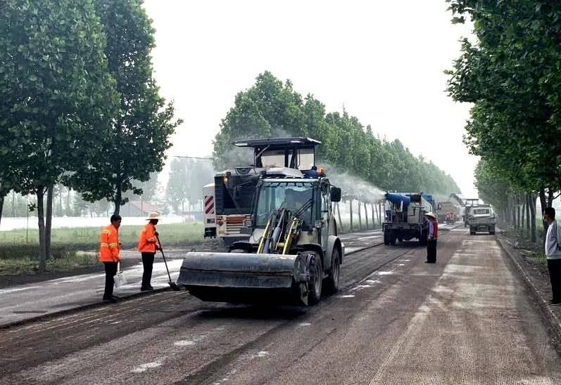 S322枣欢线滕州微山界至欢城段大修工程提前4月完工通车