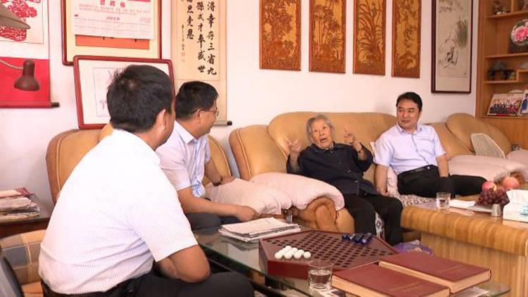 38秒丨滨州惠民县对12名健在抗战离休干部进行走访慰问