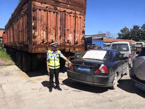 滨州阳信民警追踪20余公里终将报废车查获