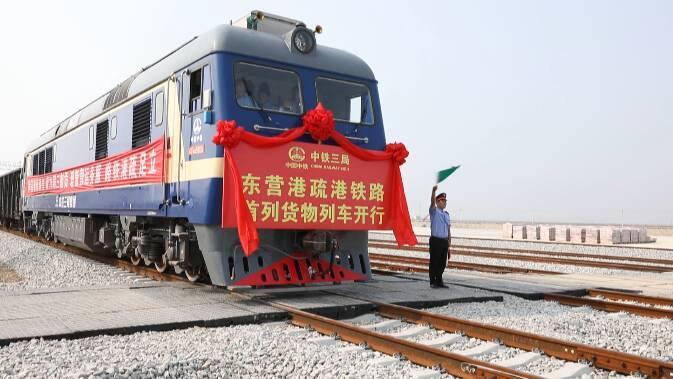 50秒丨114.24公里!全国最长的疏港铁路东营港疏港铁路正式投入运营