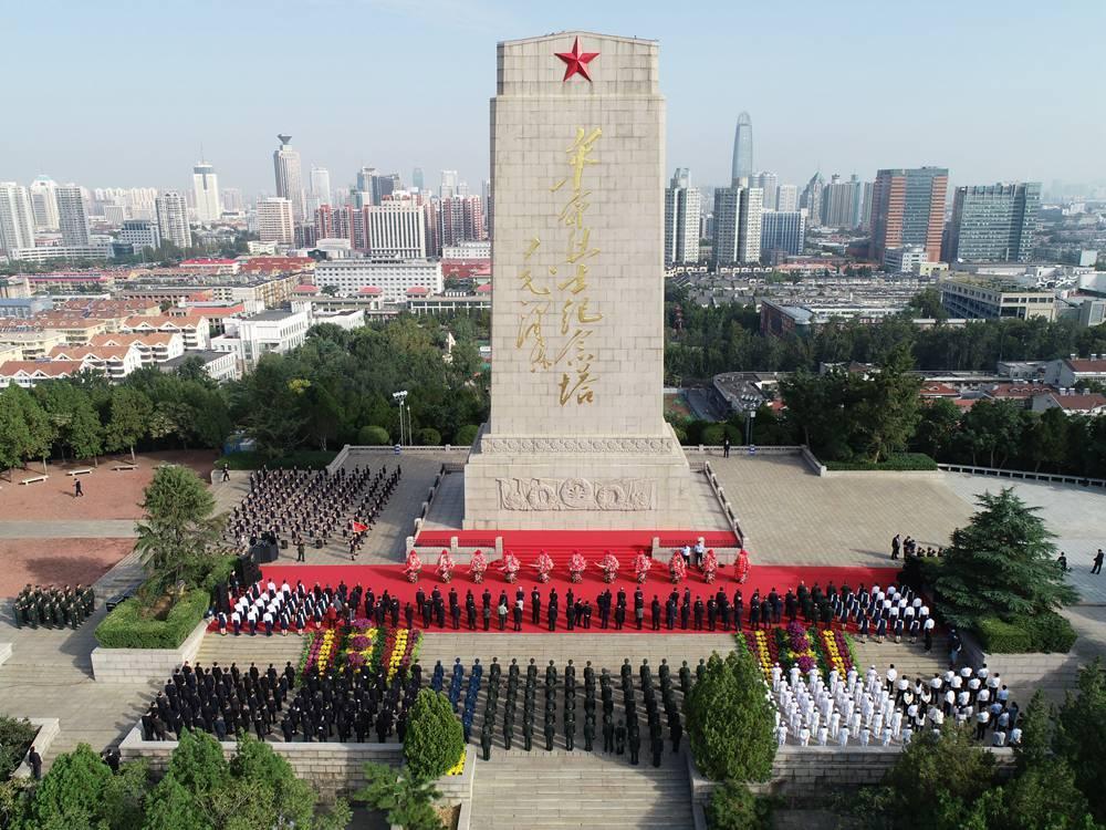 影像力|缅怀先烈!山东省、驻济南部队暨济南市公祭烈士活动举行