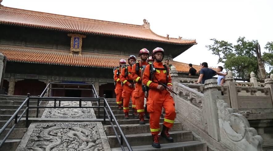42秒|国庆假期安全第一 曲阜加强三孔景区消防巡逻检查