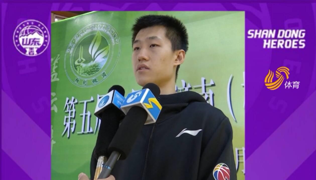 出征新赛季丨山东男篮郭旭:新赛季希望突破自我
