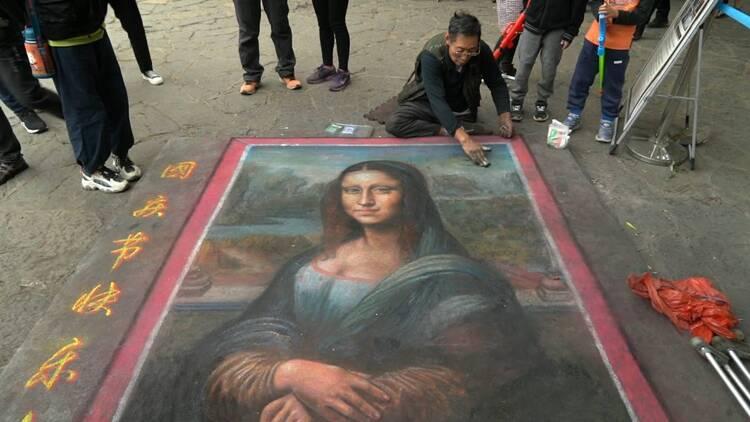 16岁截肢,流浪作画37年,临沂艺人返乡办画展 曾创作《蒙娜丽莎》上千次
