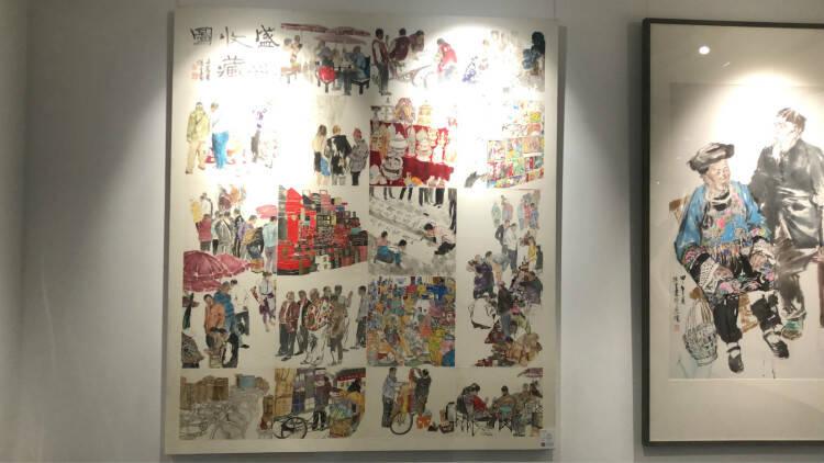 沂山向学—冯远师生中国画作品展在潍坊临朐开展