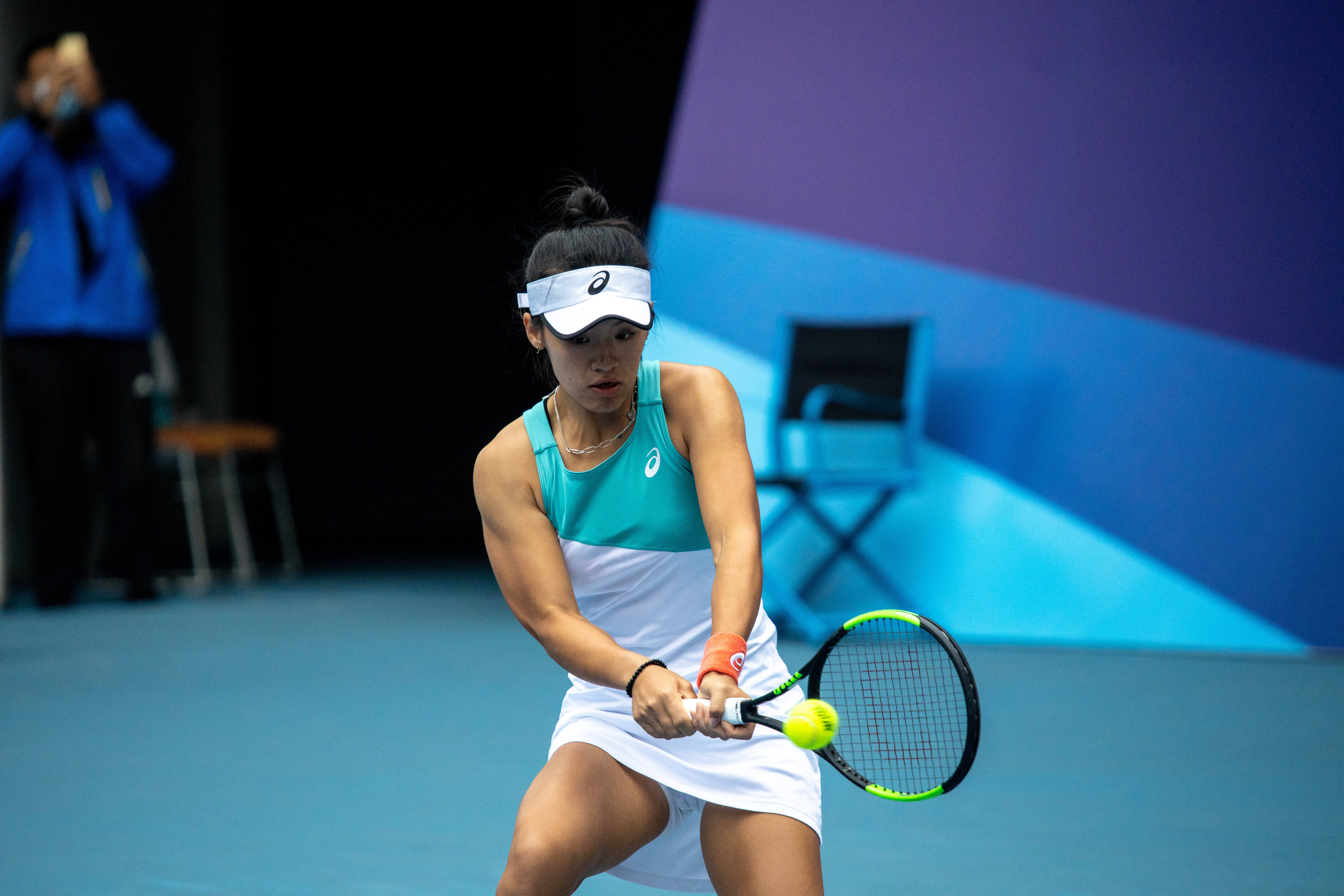 16秒丨天津网球运动中心队队员韦思佳:在日照打比赛非常舒服