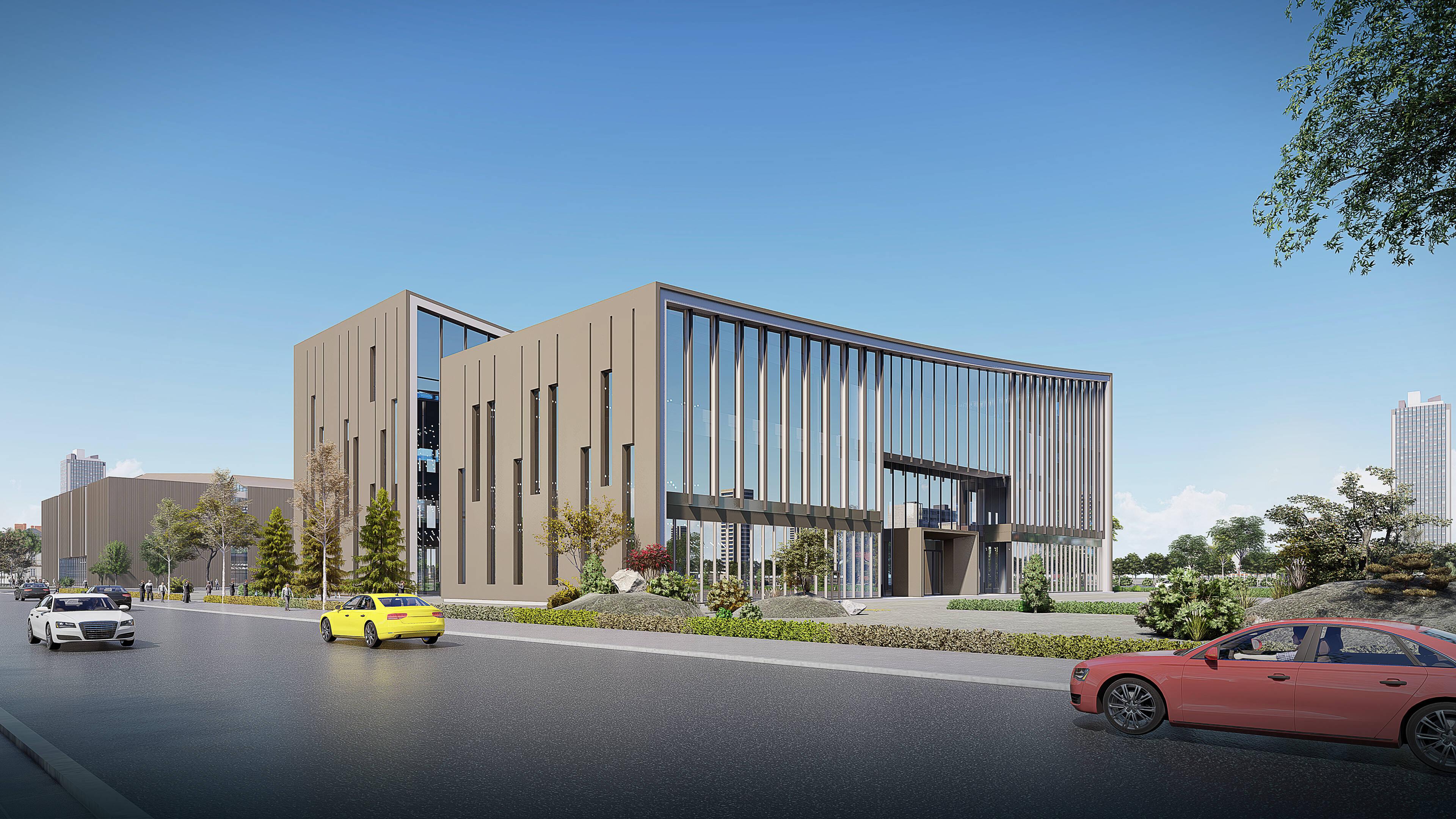 29秒丨日照海曲图书馆、档案馆项目预计11月完成主体建设
