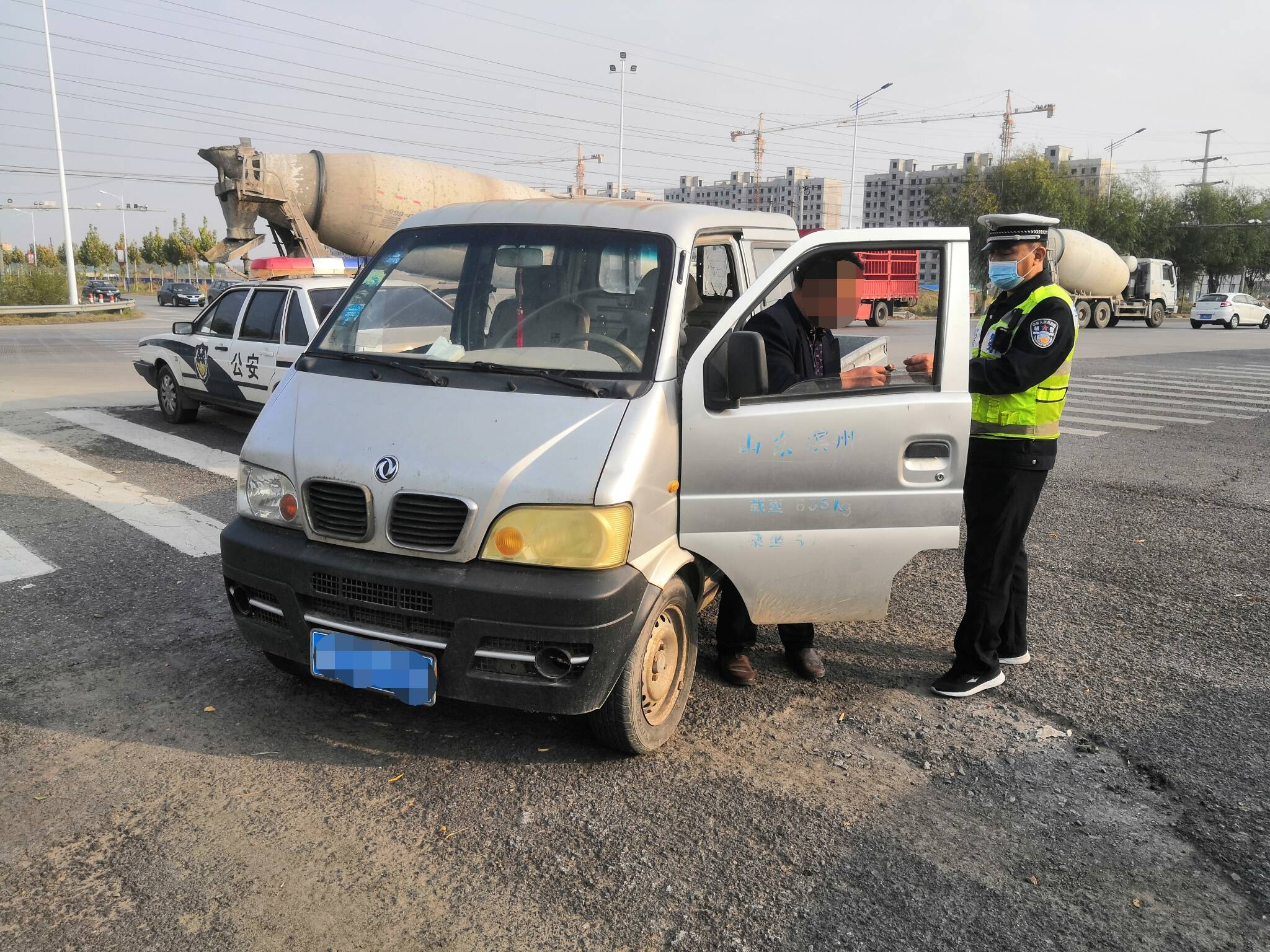 雷霆出击!滨州阳信交警仅用三分钟快速查获一辆报废车
