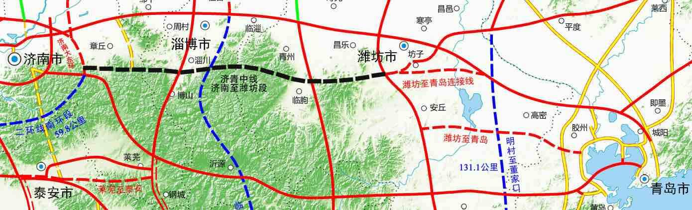 济青中线济南到潍坊段开工,双向六车道设计时速120公里