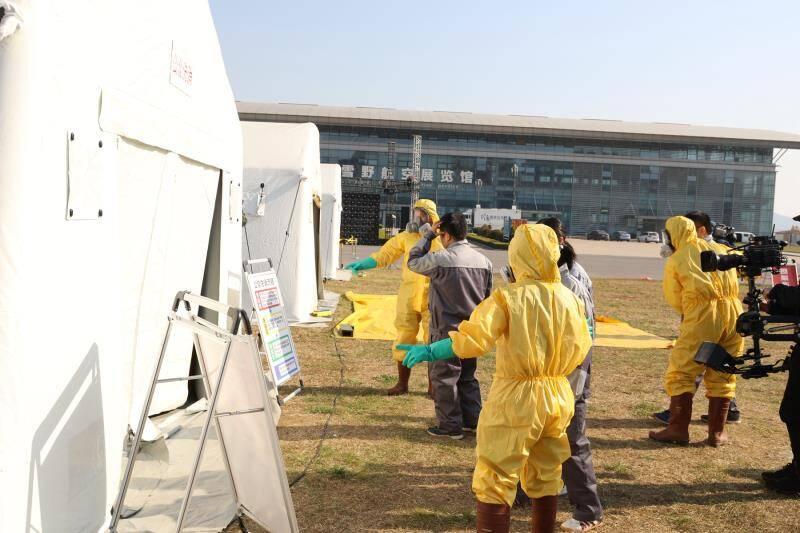 毒物检测、伤员救治......国家移动突发中毒事件卫生应急处置中心在济南雪野湖开展实战演练