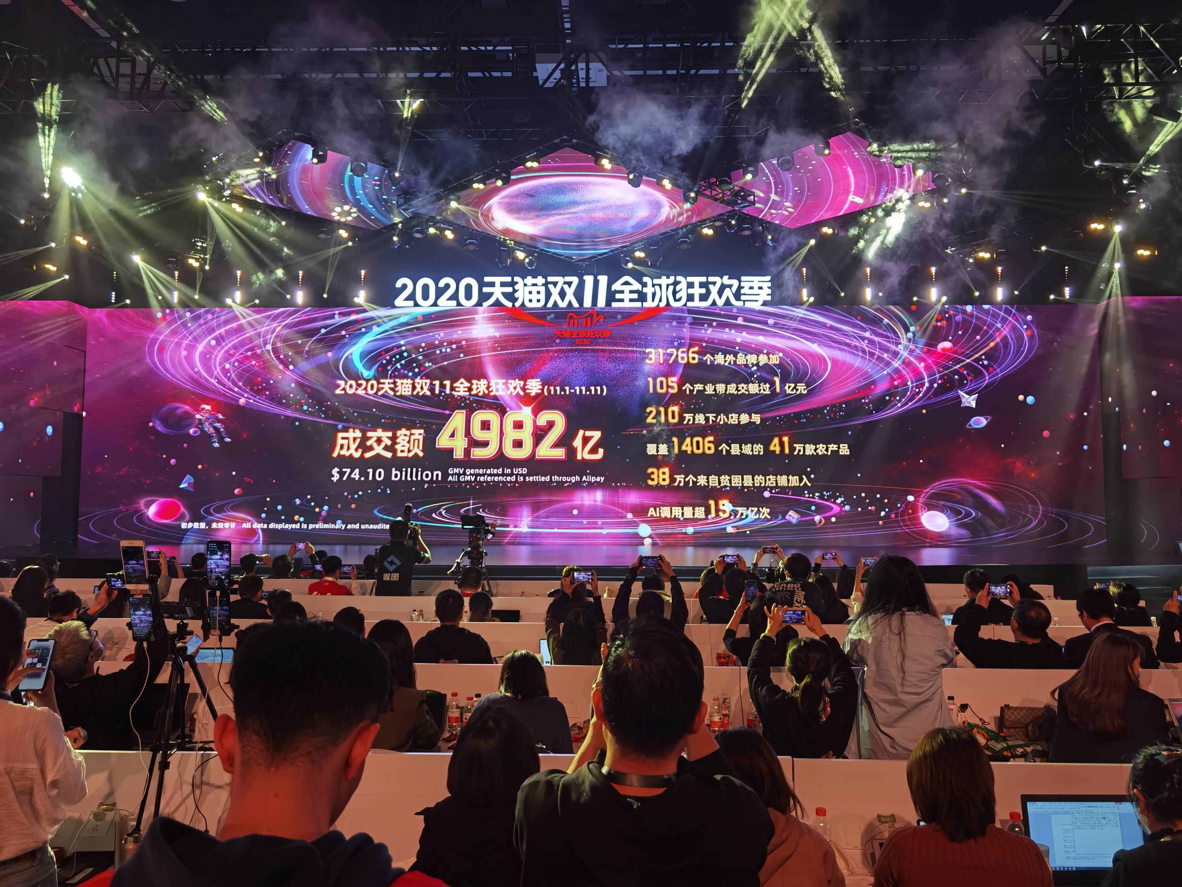 11.11速报 | 4982亿元!2020天猫双11总成交额再创新高