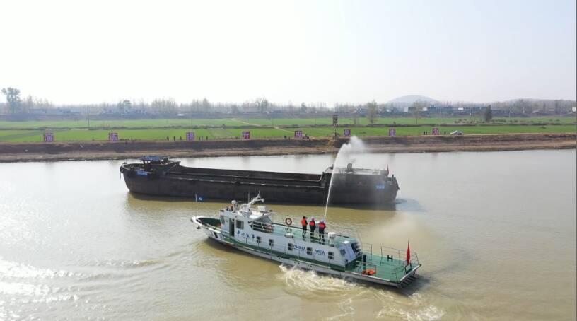 71秒|出动各类船艇13艘!2020山东省水上交通应急演练在京杭运河枣庄段举行