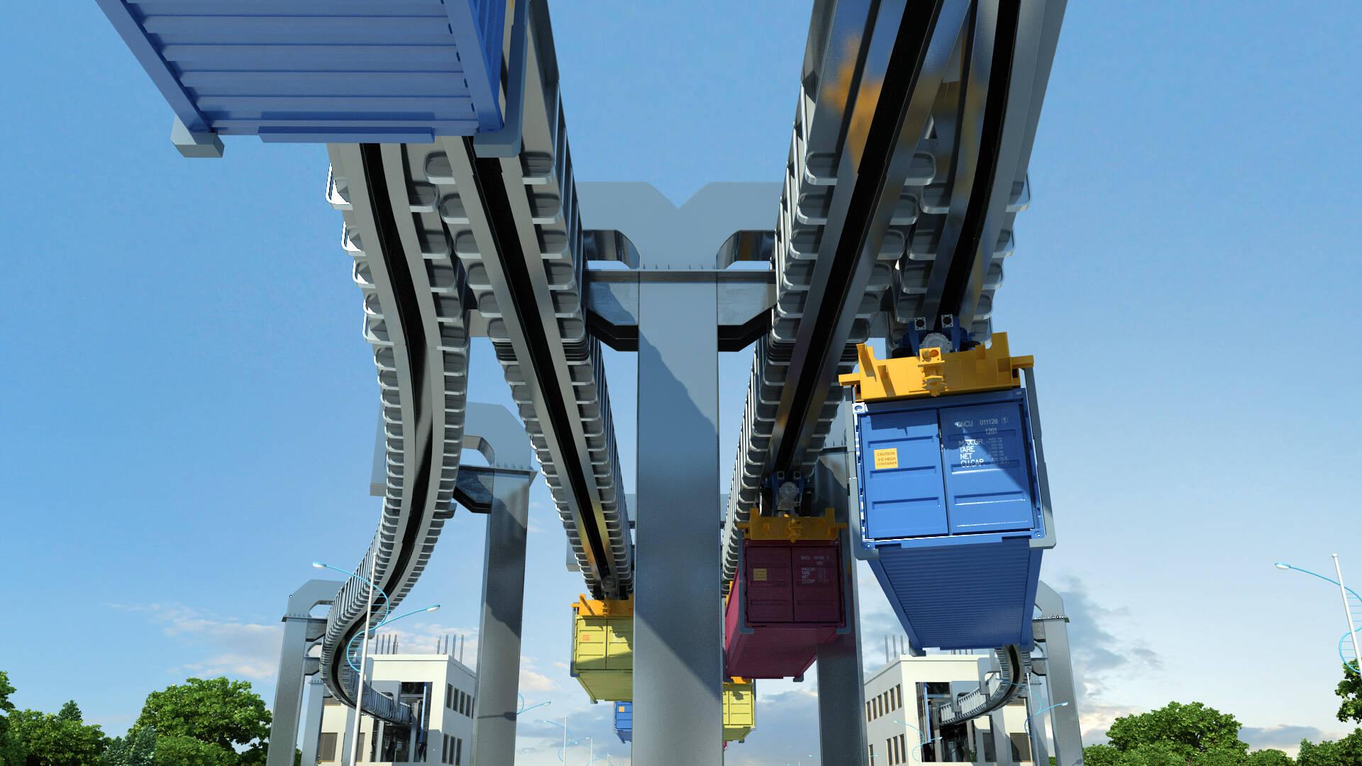 """港口、陆路、铁路联运""""零换乘""""!全球首创智能空轨集疏运系统将落地青岛港"""