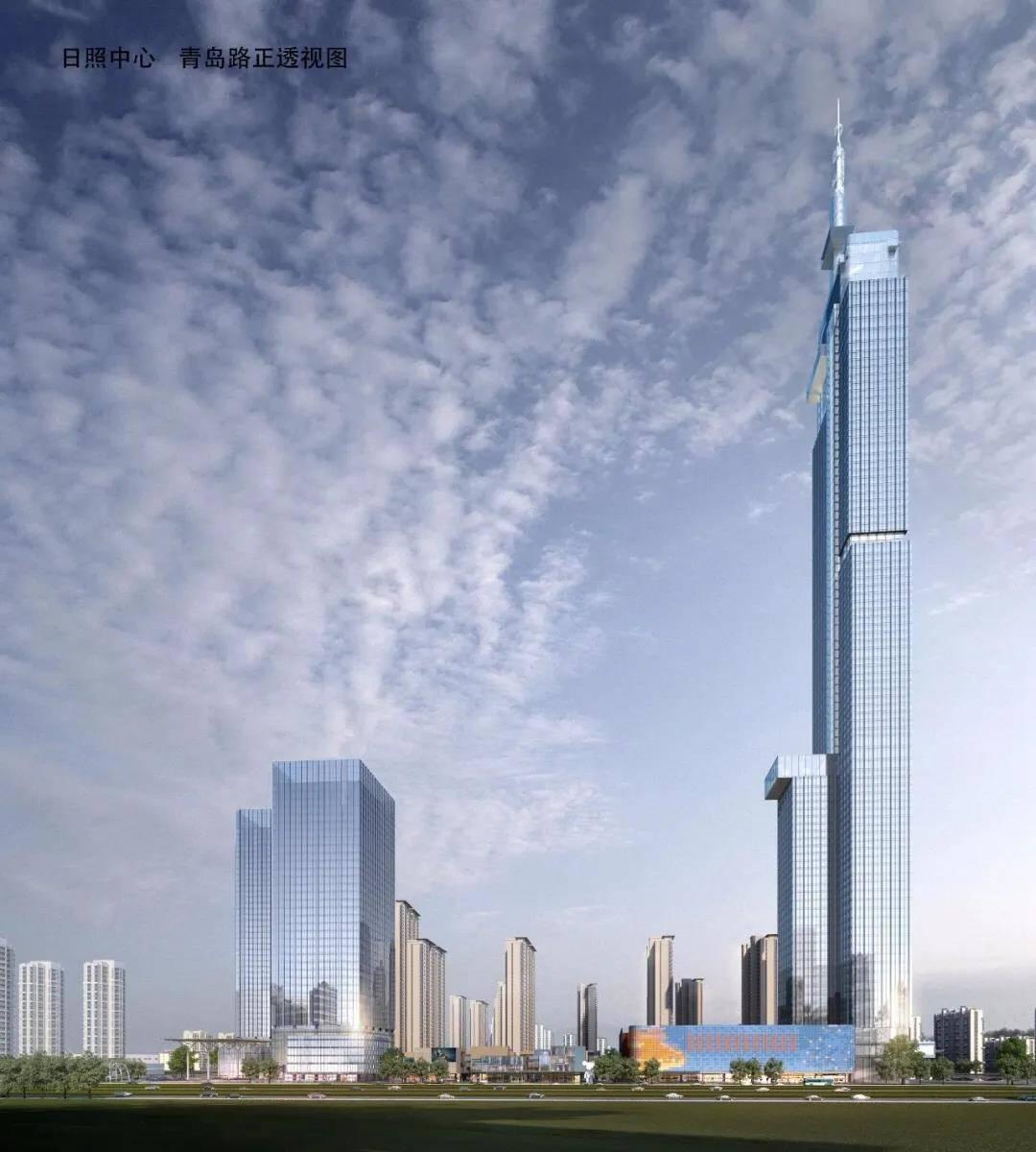 """26秒丨日照中心项目已完成投资22.4亿元  432米""""日照塔""""明年10月开工"""