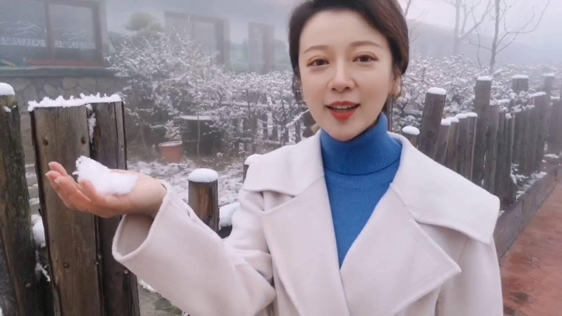 "Vlog丨济南迎来今冬初雪,记者带您""走入仙境"",结果......"