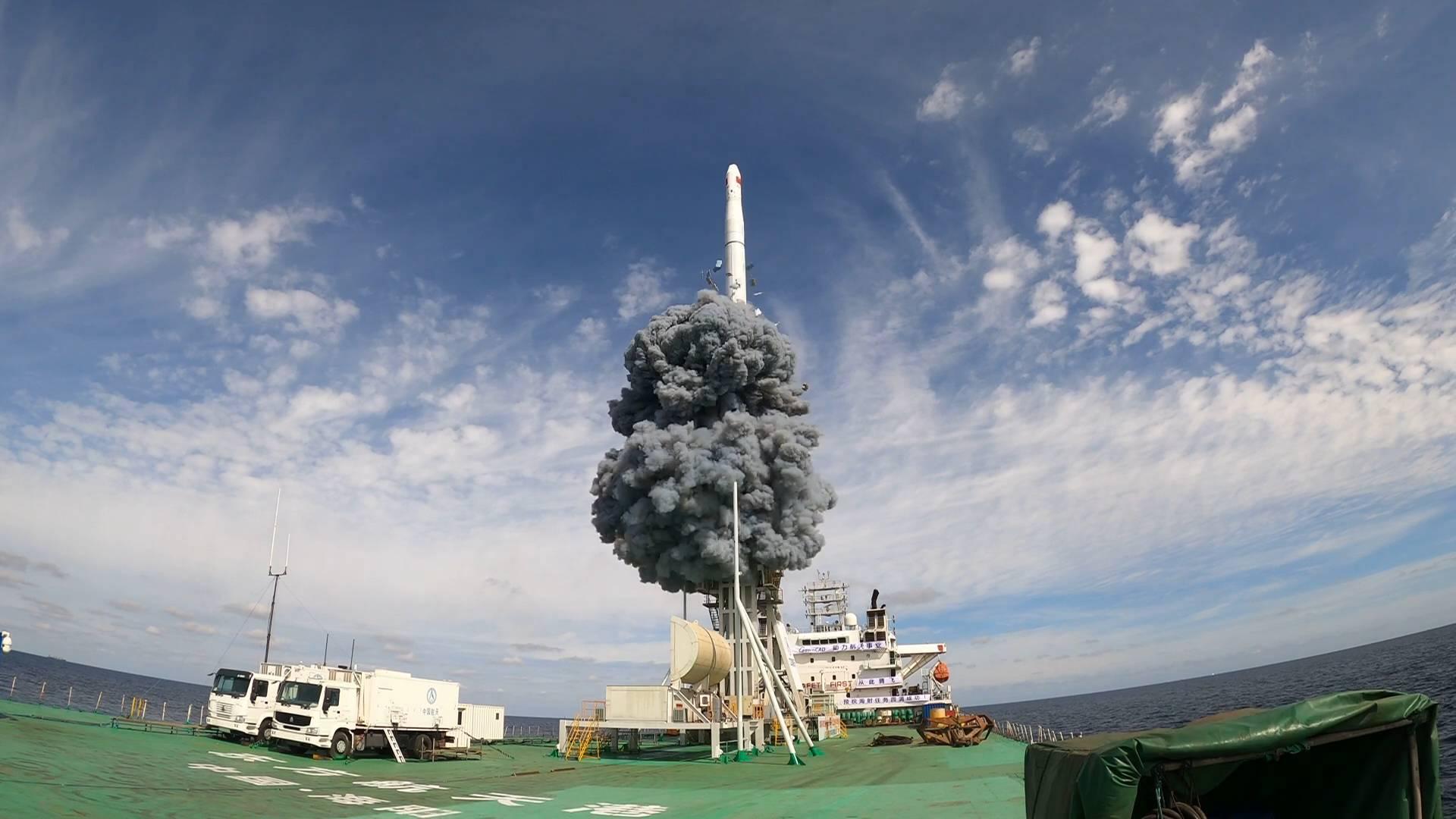 长征十一号遥九火箭海阳出厂 山东实现火箭生产、制造、发射一体化