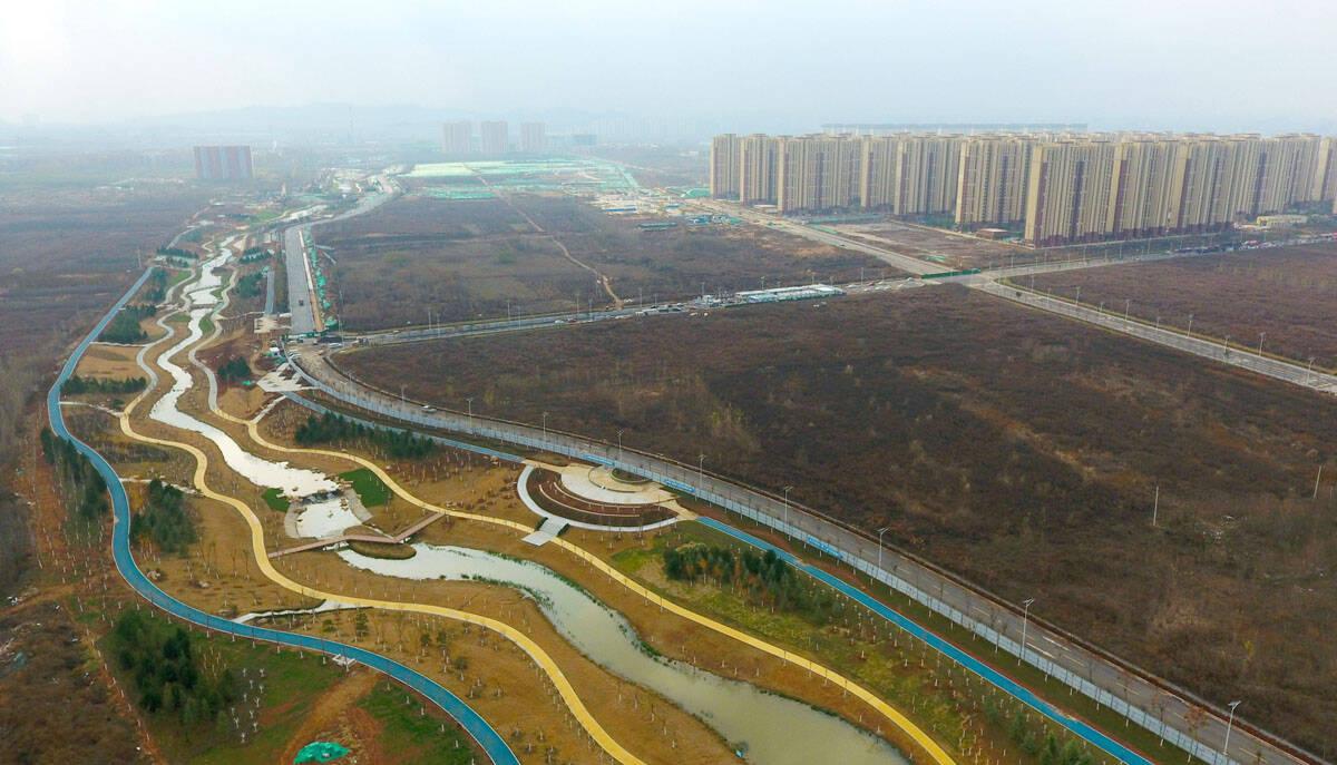 杨家河初现秀丽风姿   济南东部将新添一条美丽而智慧的景观河