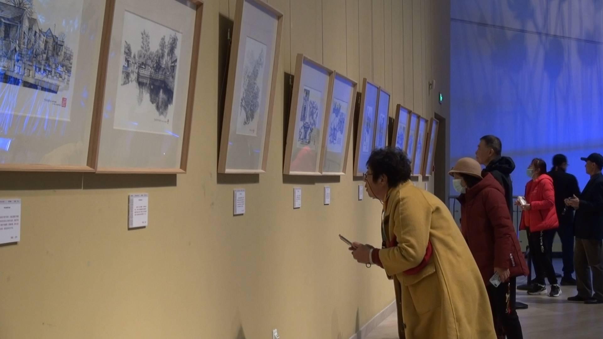 86秒丨重温泉城记忆!48幅手绘作品再现济南古建筑风貌