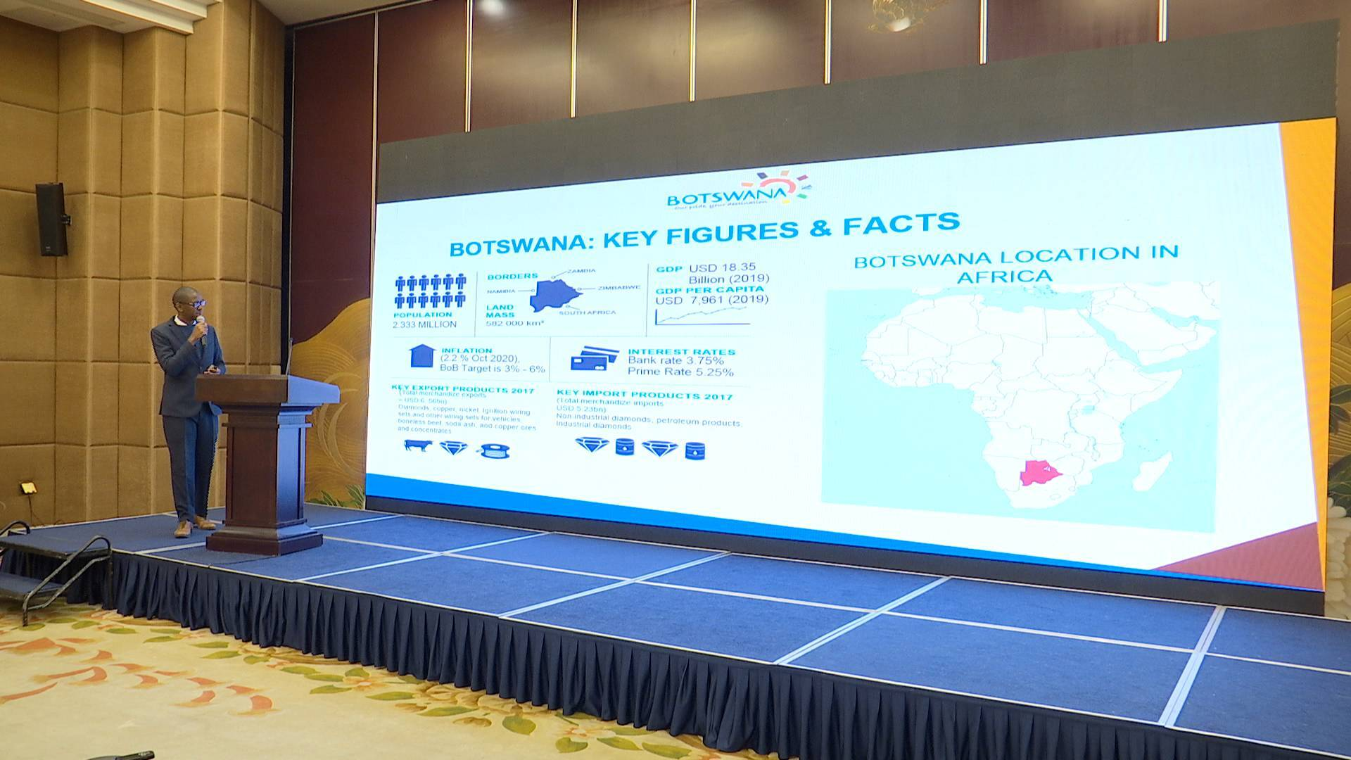 积极推进矿业、基建、产能和农业合作!博茨瓦纳投资推介会今日召开