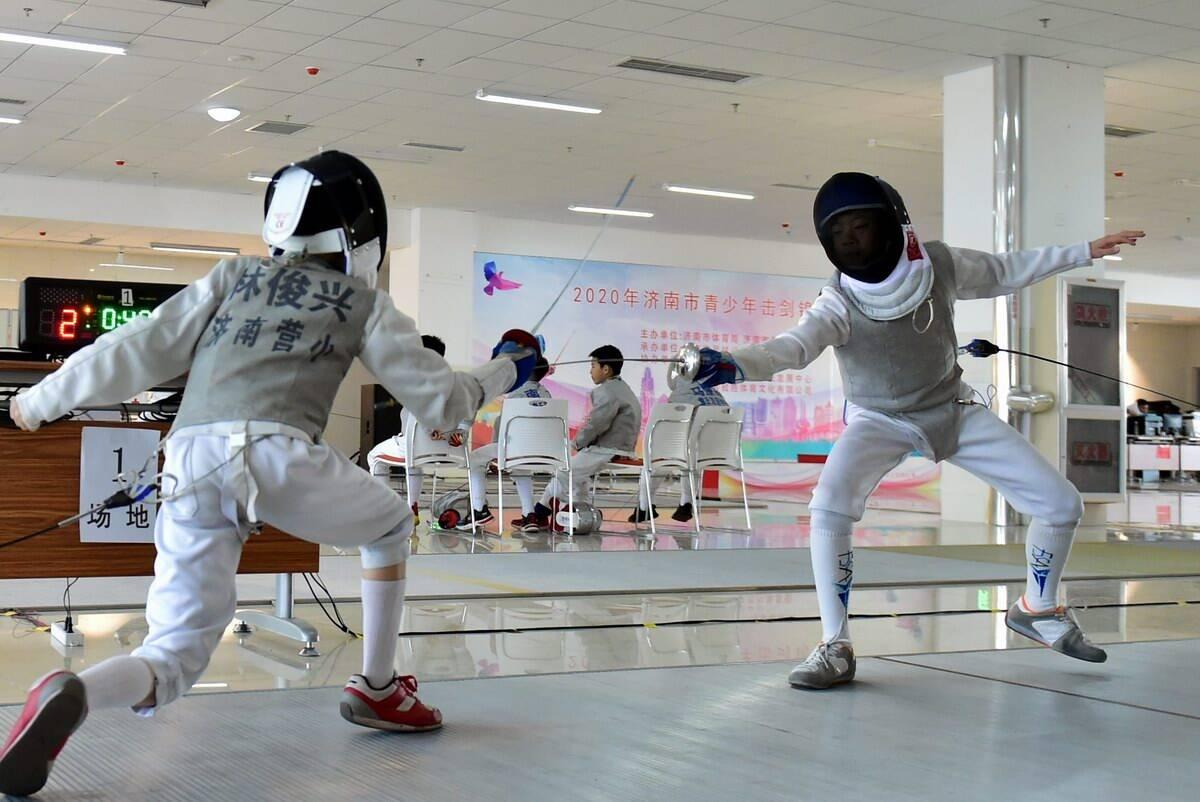 少年劍客亮劍奪標!2020年濟南市青少年擊劍錦標賽開賽