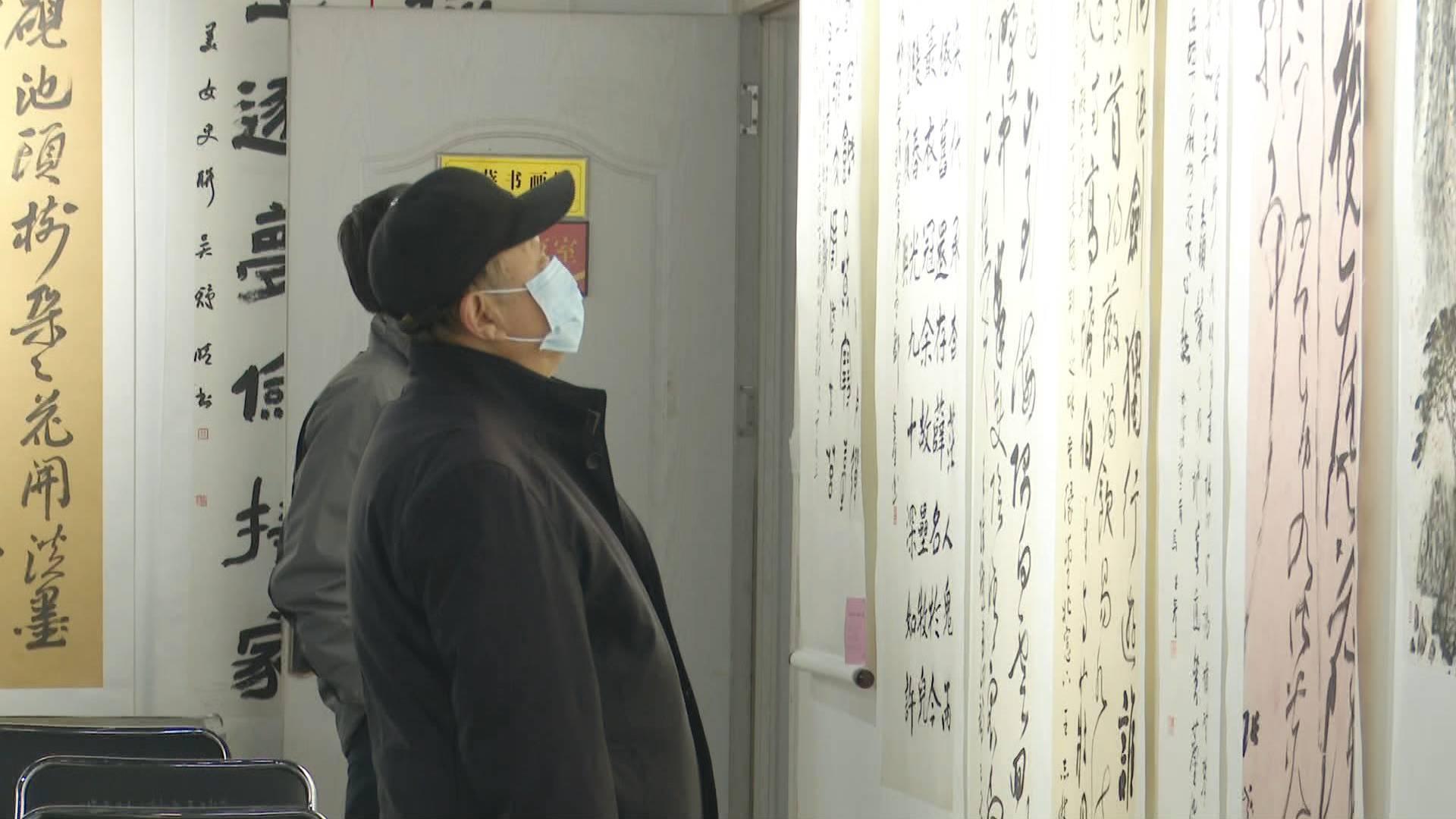 """109秒丨笔墨描绘新时代!滕州市举办""""古薛情·劳动美""""书画展"""