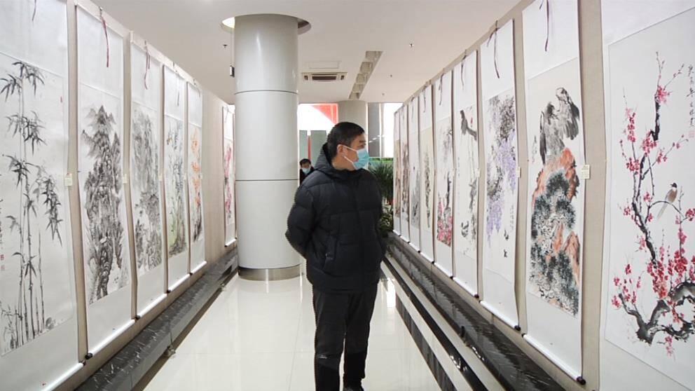 24秒丨庆元旦迎新春——邹平市职工书画展开幕