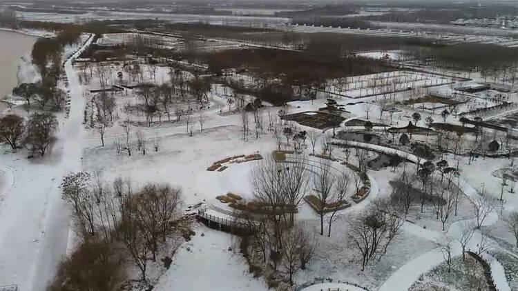 40秒丨大雪不期而遇 雪后这里像是一幅静美的水泼画