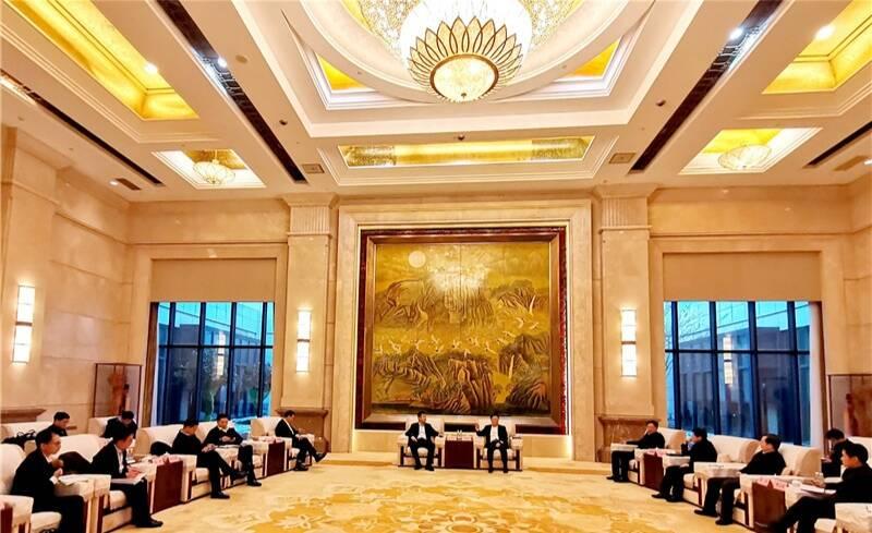 江敦涛马晓磊会见山东省港口集团客人