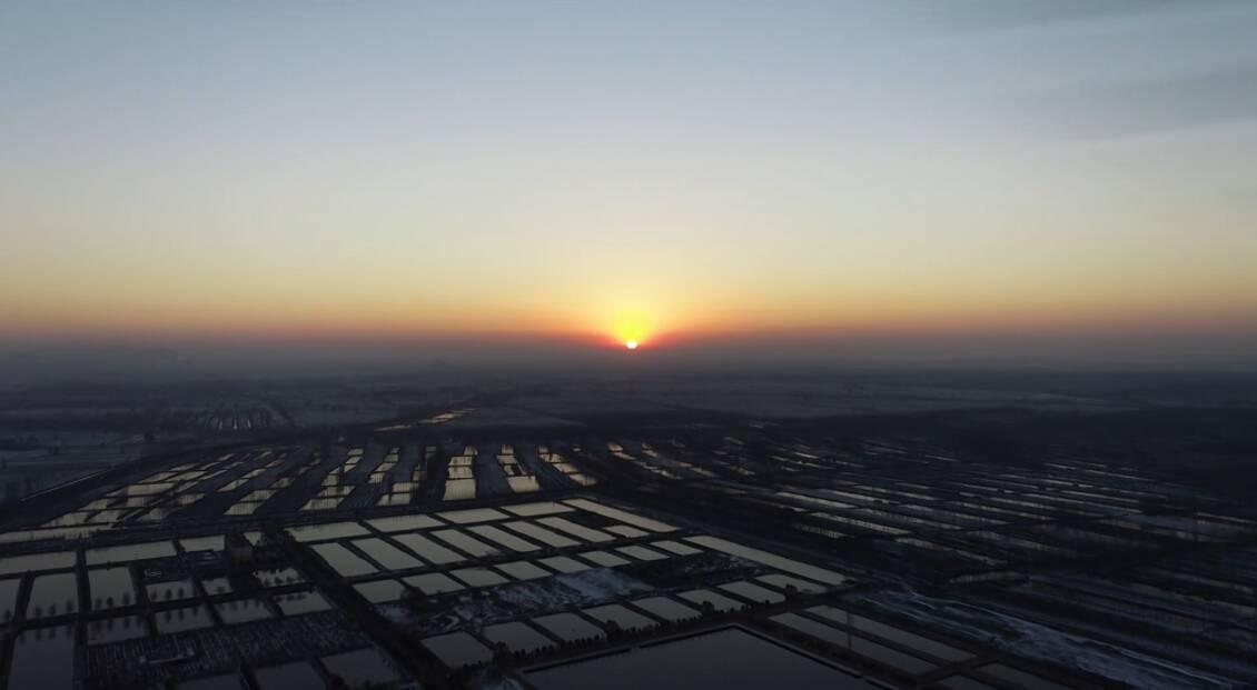 30秒看冬日微山湖 喜迎2021年第一缕阳光