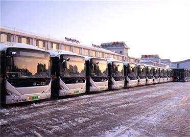 新年新气象!威海文登首批新能源纯电动空调公交车上线运营