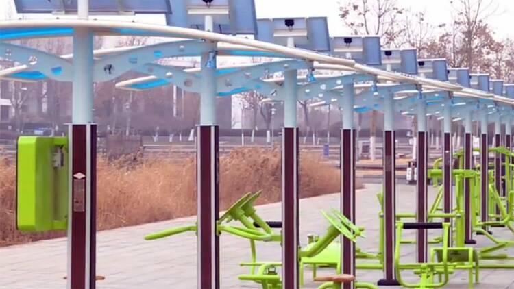 82秒丨东营新型二代健身器材 助力市民科学健身