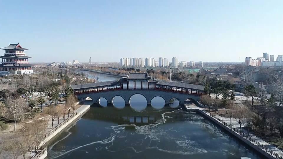 27秒|滨湖水城济宁鱼台冰冻的河流展现别样魅力