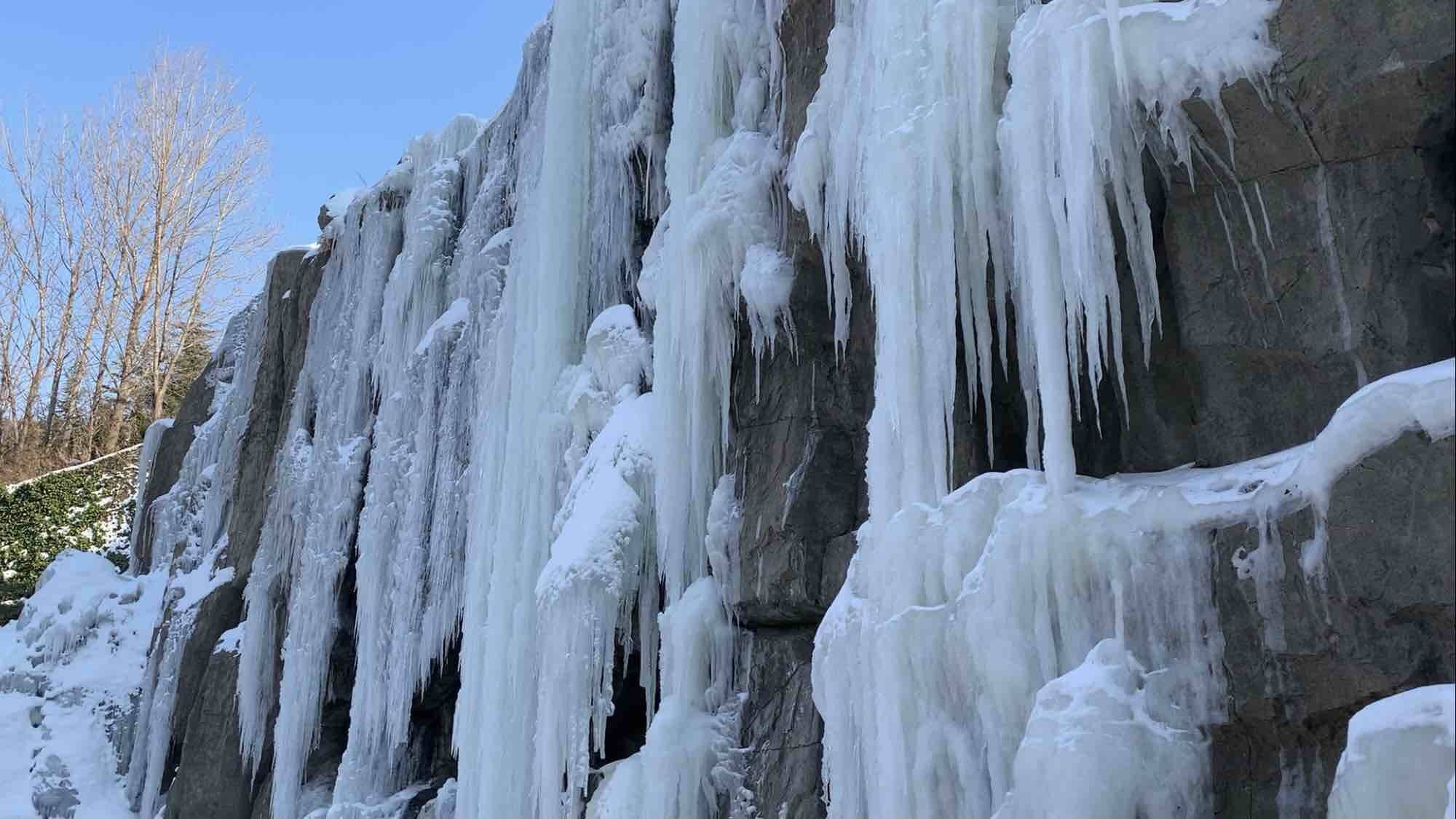 Vlog|冰瀑雪柳还有冰雕大熊 好一片琉璃世界 你确定不来看看吗?