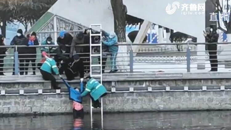 平均年龄62岁 新泰四名园林工人勇救落水少女