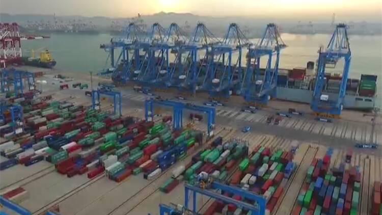 【牢记嘱托 走在前列 全面开创】山东打通物流大通道 实现国际国内贸易双循环