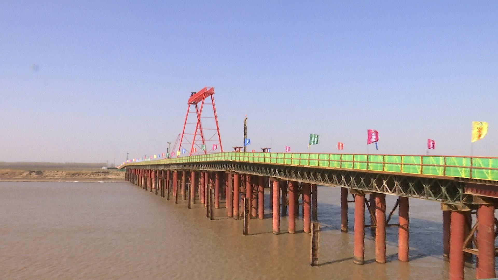 """探访济南""""大西环""""黄河特大桥施工现场:鼓励工人就地过年"""