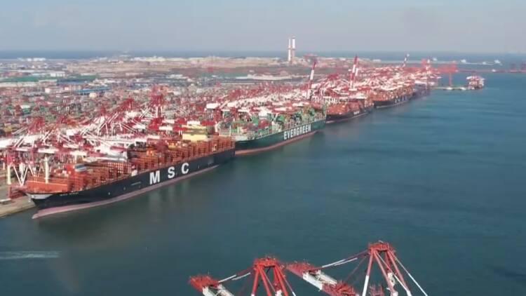 """山东港口三条""""一带一路""""及RCEP航线集中开通"""