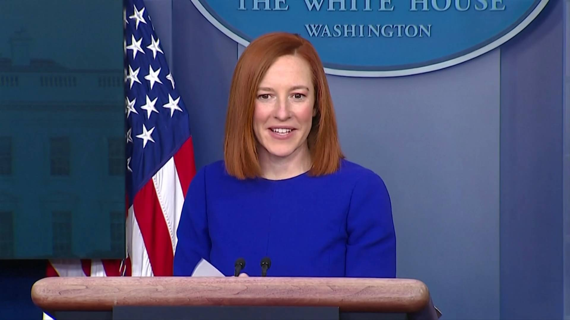 自2020年12月15日以来首次 白宫新闻秘书举行拜登政府首场新闻发布会