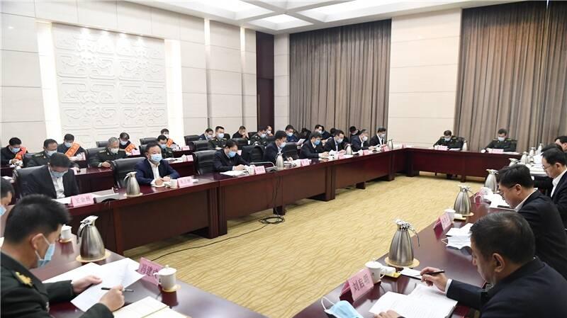 淄博市区县人武部党委第一书记述职会议召开