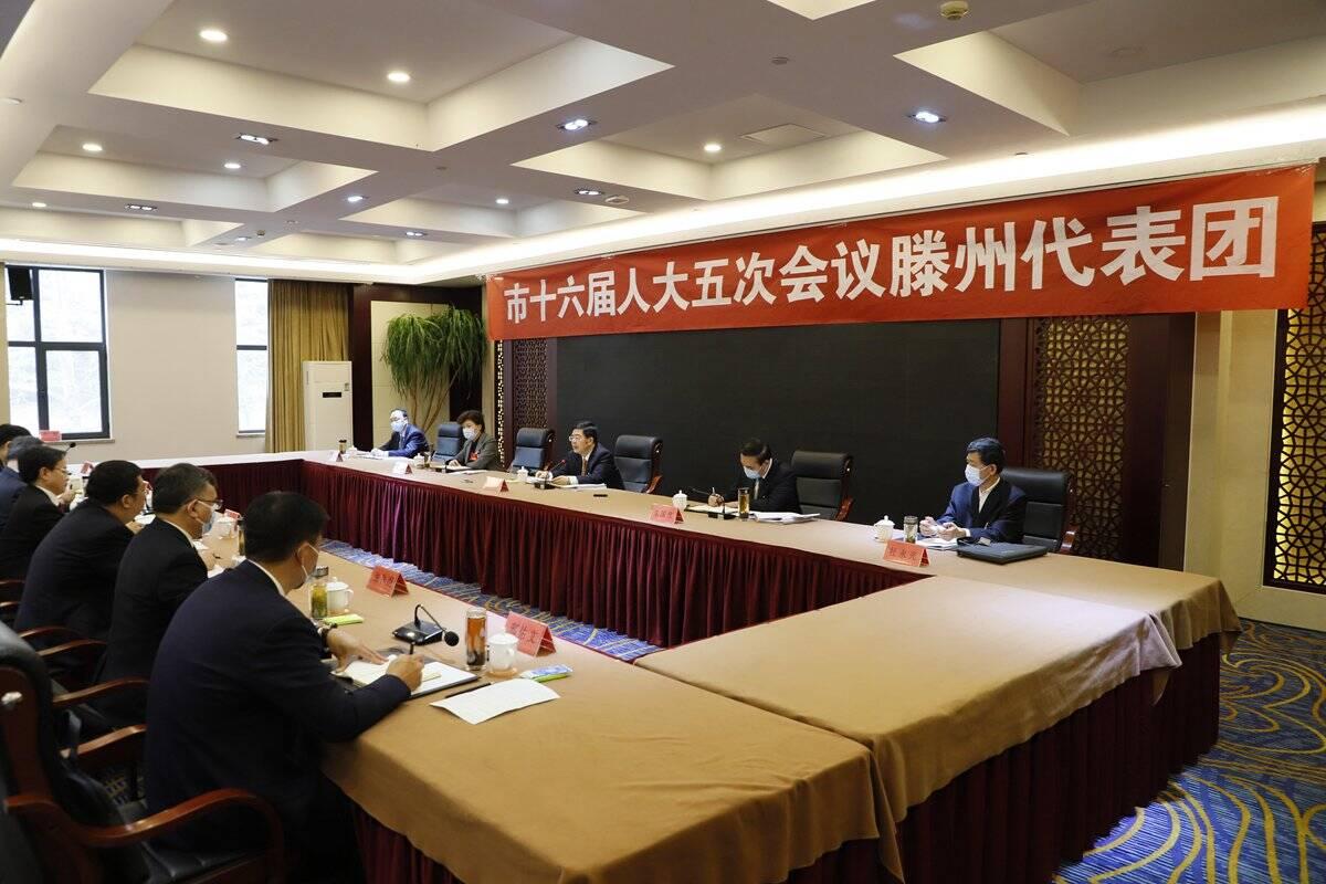 枣庄市委书记陈平参加滕州市代表团审议