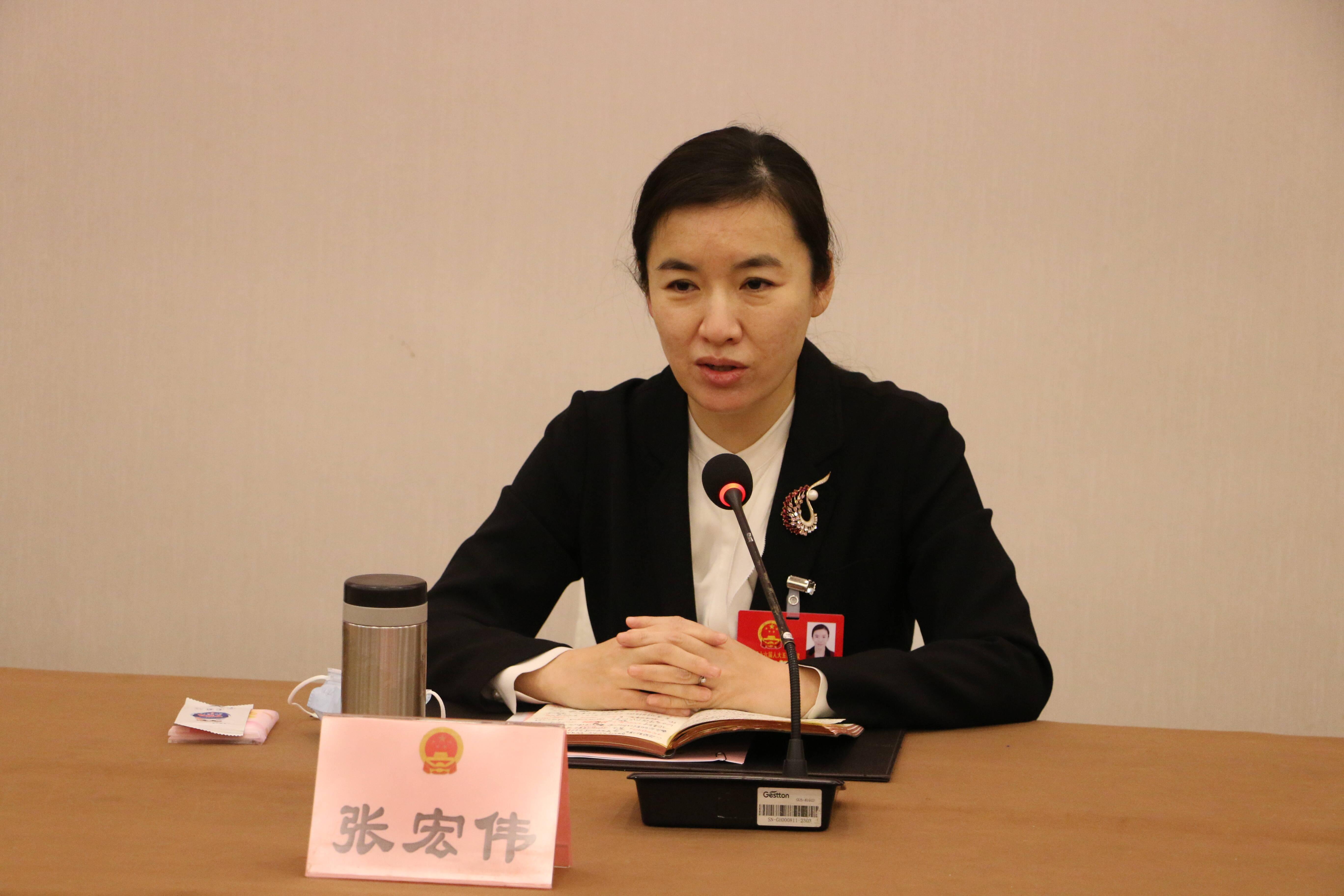枣庄市委副书记、代市长张宏伟参加市中区(解放军)代表团审议