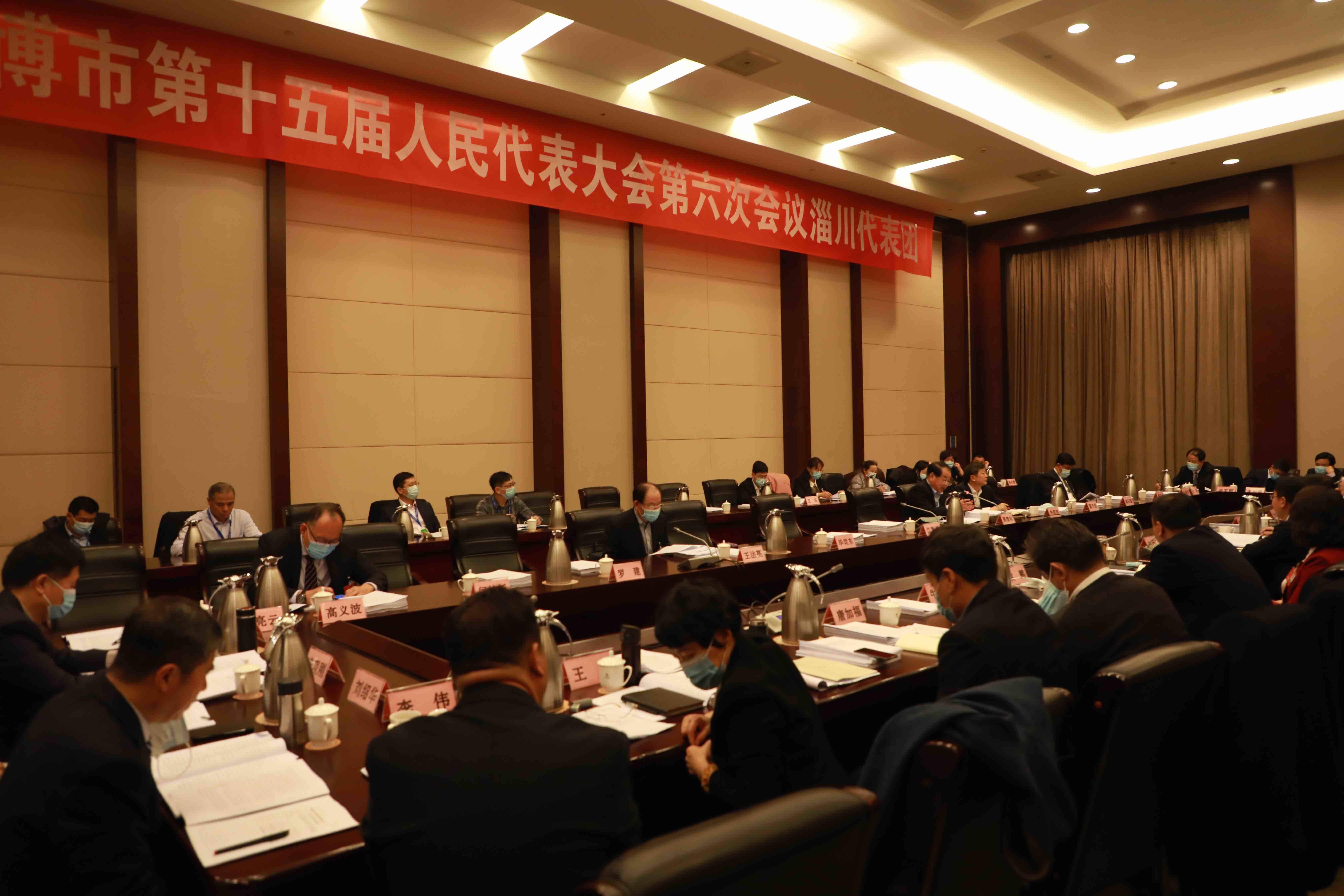 江敦涛参加市十五届人大六次会议淄川代表团审议