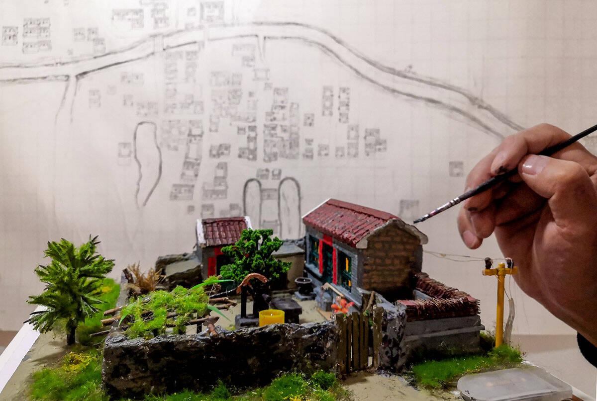 影像力丨还原的是老家,承载的是乡情 济南村民自制沙盘记忆岁月西沙