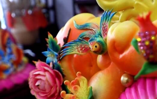 威海非遗人做12个价值万元的新年祈福花饽饽